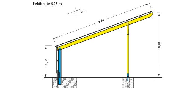 Conrads Halle Photovoltaik Sondertyp PHO 2